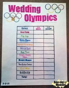 Wedding Olympics: Bridesmaids vs Groomsmen - 11 different drinking games with directions and FREE Printable directions Bachelorette Party Attire, Beer Olympics Party, Couple Shower, Olympic Games, Free Printable, Beer Drinking Games, Outdoor Drinking Games, Beer Games, Groomsmen