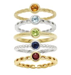 Stackable Gemstone Rings  #stackable #stackablerings #stackingrings #gemstonerings #naturalgemstones #rings #ringstack Or Rose, Rose Gold, Stacking Rings, Sapphire, Gemstone Rings, Jewels, Gemstones, Pattern, Stuff To Buy