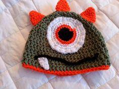 dfc9bd51648 Crochet from J  One-Eyed Monster Baby Beanie Pattern Crochet Monster Hat