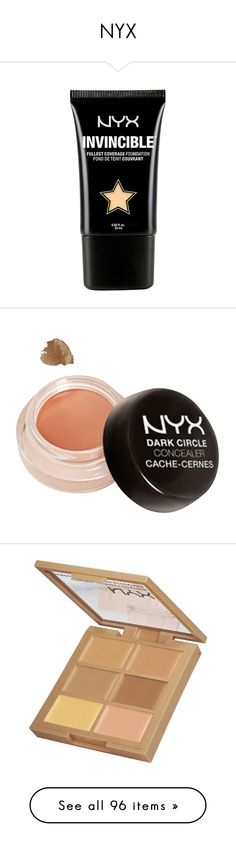 """""""NYX"""" by alexandragoga ❤ liked on Polyvore featuring beauty products, makeup, face makeup, foundation, beauty, nyx foundation, matte finish foundation, nyx, matte foundation and concealer"""