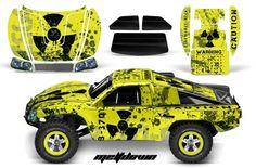 Traxxas Slash/Slayer 4X4 Graphics Kit 1/10-TRA6811-RC AMRRACING Decal Kit-MeltDown-Yellow by AMRRACING. $39.95
