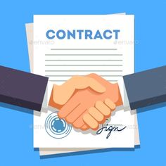 Buy Business Man Shaking Hands Over a Signed Contract by IconicBestiary on GraphicRiver. Business man firmly shaking hands over a signed contract with stamp. Signed Contract, Business Education, Interview Questions, Data Science, Signs, Business Women, Vector Free, Presentation, Hands