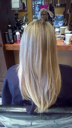 Natural blonde highlights by Jill