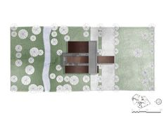 Site plan - second year project of the architecture course - Dendrology Centre by Szymon Milczarek