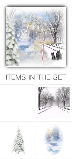 """""""Skippy lets go see Santa"""" by cindycook10 ❤ liked on Polyvore featuring art, Winter and artset"""