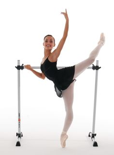 Better than a wall mounted barre for home studio? Vita Vibe Prodigy Series Freestanding Ballet Barres. 4ft-8ft lengths. Comes with a carry bag.