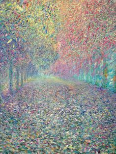 Walking along the pathway, acrylic on canvas, Ho Sung Lee, 2011