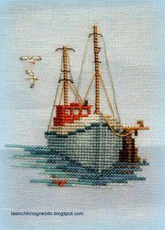Kanaviçe # gemi # nakış