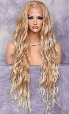 Blonde Wigs Lace Frontal Hair Dark Pink Lace Front Wig – wcwigs