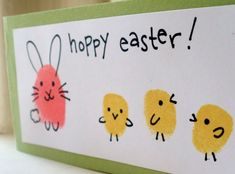 Easter is one of our favorite holidays for crafting. There are so many adorable DIY Easter crafts for kids. Here are some fun, easy, and inexpensive crafts that we have made and also gathered from other craft experts. Holiday Crafts For Kids, Easter Crafts For Kids, Diy For Kids, Hoppy Easter, Easter Bunny, Easter Card, Easter Activities, Preschool Crafts, Fingerprint Crafts