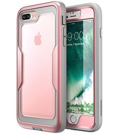 i-Blason iPhone 8 Plus Case [Heavy Duty Protection] [Magma Series] Shock Reduction / Full body Bumper Case with Built-in Screen Protector for iPhone 7 Plus 2016 / iPhone 8 Plus 2017 (RoseGold)