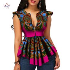 Modern Fashion Womens Tops Dashiki African Print Shirt - Dukaiko Fashion by laviye African Print Shirt, African Print Dresses, African Print Fashion, Africa Fashion, Modern African Dresses, Tribal Fashion, African Prints, African Fabric, African Fashion Designers