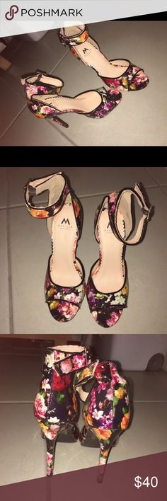floral print high heels floral print, great condition, size 6 1 Madison Shoes Heels