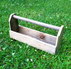 Reclaimed Wood Tool Box Rustic Tote Reclaimed by SenovaDesigns, $20.00