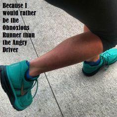 Running: the anti road-rage