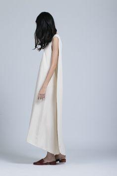 KAAREM Turn Overlap Maxi Dress in Cream