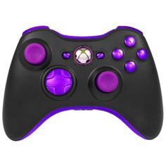 Black Purple Chrome Pro Series Xbox 360 Controller with Purple Ring of Light