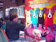 "George Rodrigue, famed Louisiana artist and creator of the ""Blue Dog."""