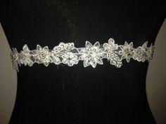 Bridal waistband bridal sash bridal belt by LoveeLuna on Etsy, £31.00
