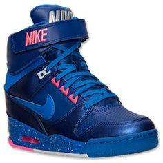 Women's Nike Air Revolution Sky Hi Casual Shoes| Finish Line | Deep Royal Blue/Hyper Cobalt
