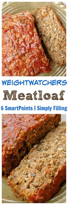 weight watchers meatloaf 6 freestyle smartpoints simply filling #easyhealthyrecipes #weightwatchersrecipes #freestylerecipes #simplenourishedliving
