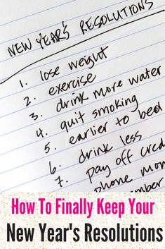 How to Finally Keep Your New Year's Resolutions! #2015 #NewYear #Resolutions