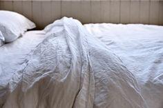 100% Linen Duvet Cover in White