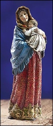 Madonna Of The Streets Ornate Brocade Statue Madonna And Child Jesus Christ Holy