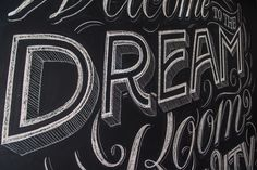 Chalk-lettering for Pernod Ricard Rouss on Behance