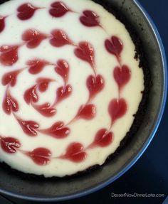 Valentine's Day Cheesecake - Dessert Now, Dinner Later!