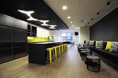 Staff break room in Mill's Oakley's new Sydney office @ 400 George St