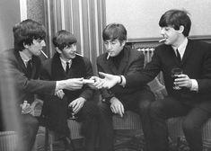 All four Beatles smoked like chimneys.