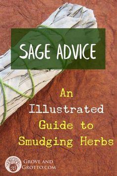 Sage Advice Smudging Prayer, Sage Smudging, Salvia, Types Of Sage, Reiki, Herbal Magic, Magic Herbs, Burning Sage, Smudge Sticks