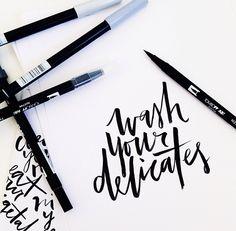Tombow brush pen