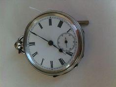 Farringdon Waltham 1880 Silver Pocketwatch with key