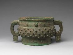 Food Serving Vessel (Gui), Shang dynasty (ca. 1600–1046 B.C.); 12th–11th century B.C., Bronze