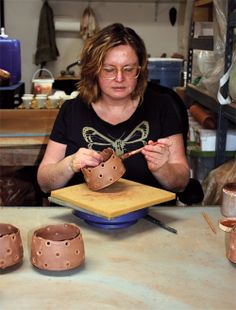 Birdie Boone, one of Ceramics Monthly's 2014 Working Potters. Boone's studio is based in Santa Fe, New Mexico. http://ceramicartsdaily.org/ceramics-monthly/ceramics-monthly-junejulyaugust-2014/