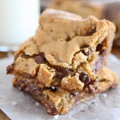 Chocolate chip salted carmel cookie bar