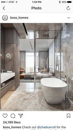 Modern luxury bathroom design ideas for your home Dream Bathrooms, Beautiful Bathrooms, Modern Bathroom, Luxury Bathrooms, Master Bathrooms, Minimalist Bathroom, White Bathroom, Farmhouse Bathrooms, Bathroom Blinds