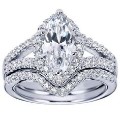 "Ben Garelick Royal Celebration ""Celeste"" Marquise Cut Diamond Halo Engagement Ring Featuring 0.37 Carats Round Cut Diamonds.. Style ER5879W44JJ"