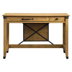 Registry Row Writing Desk Amber Pine