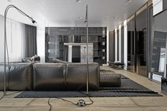 Simple floor lamps offer more style than substance, but bring the chrome element into the space.