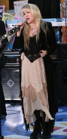 Stevie ~~ The one woman I'd gladly stand in the shadows or shoes of! I'd love to meet Stevie & to just talk, hear what she has to say......