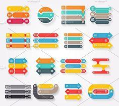 Arrows infographics elements. Infographic Elements