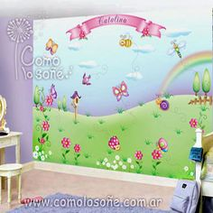 COMO LO SONÉ... Mural Digital, Toy Chest, Storage Chest, Acro, Furniture, Home Decor, Murals, Homemade Home Decor, Home Furnishings