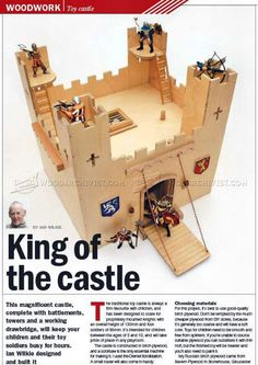 #577 Wooden Castle Plans - Children's Wooden Toy Plans and Projects