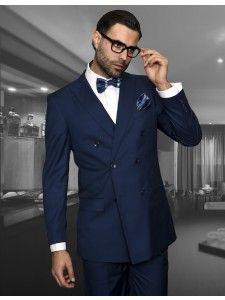 Men's 2 Pc DB Fashion Suit by STATEMENT - Indigo
