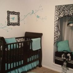 Baby room ideas... i like the colors.