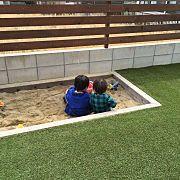 お庭,人工芝,砂場,こどもと暮らす。に関連する他の写真