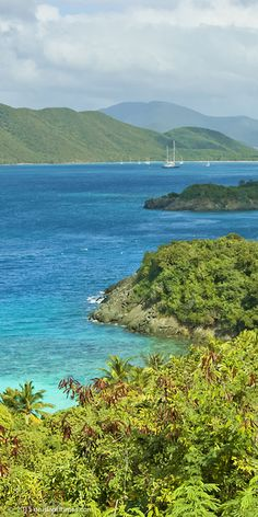 The view from Peace Hill over Denis Bay to Mary Point on St John, US Virgin Islands National Park